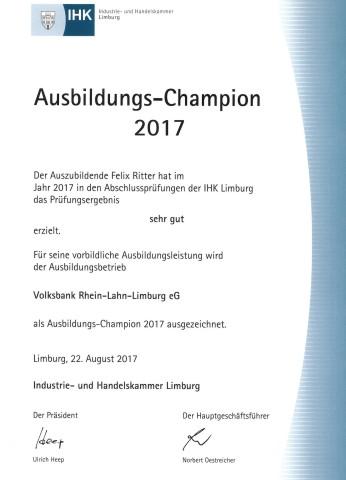 Ausbildungs-Champion 2017