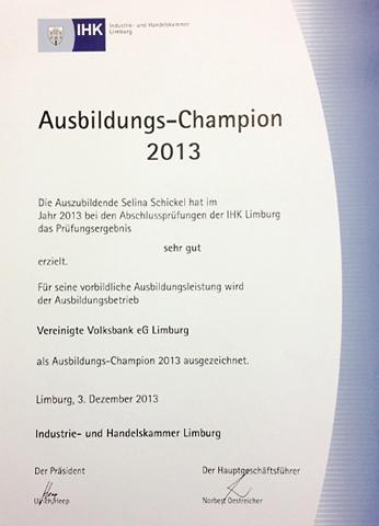 Ausbildungs-Champion 2013