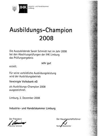 Ausbildungs-Champion 2008