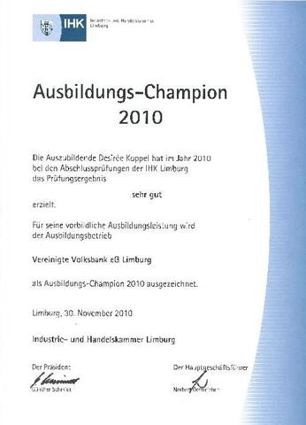 Ausbildungs-Champion 2010