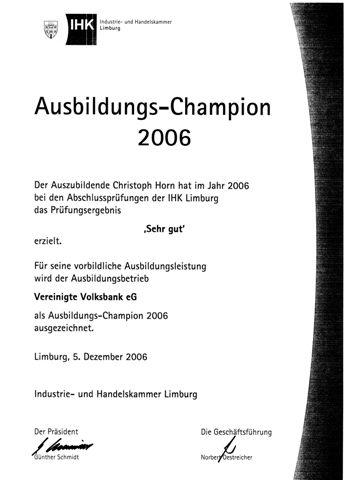 Ausbildungs-Champion 2006